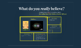 What do you really believe?