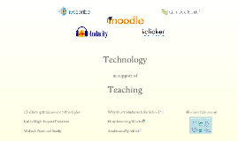 Technology in Support of Teaching