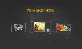 Poesía popular: décima
