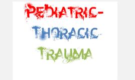 Pediatric Thoracic Trauma