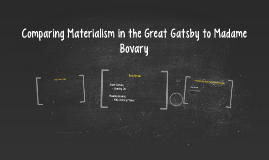 Comparing Materialism in the Great Gatsby to Madame Bovary