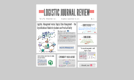 LOGISTICJOURNAL REVIEW