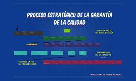 pROCESO ESTRATÉGICO DE LA GARANTÍA DE LA cALIDAD