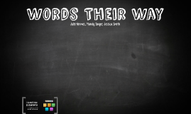 Words Their Way Day 1