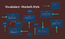 Vocabulary -Macbeth Style