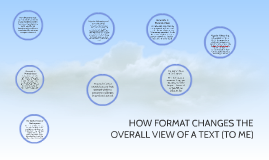 how different formats--poetry, articles, or music--change th