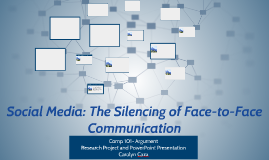 Social Media: The Silencing of Face-to-Face