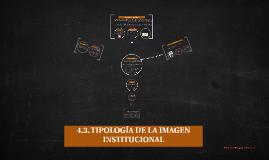 4.3. TIPOLOGÍA DE LA IMAGEN INSTITUCIONAL