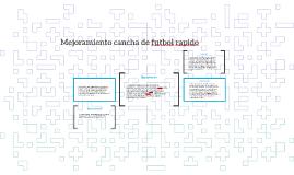 Mejoramiento cancha de futbol rapido