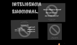 Copy of INTELIGENCIA EMOCIONAL