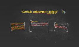 O currículo como construção social e cultural;