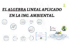 algebra en la ing ambiental