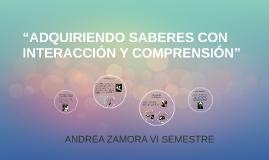 """""""ADQUIRIENDO SABERES CON INTERACCIÓN Y COMPRENSIÓN"""""""