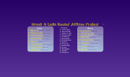 Greek & Latin Roots/ Affixes Project -Section 2