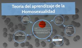 Teoria de prendizaje de la Homosexualidad