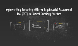 Implementing Screening with the Psychological Assessment Too