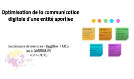 Soutenance de mémoire - Lucie GARRIGUES - Master Proj&ter  - 2014-2015