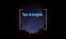 Copy of Tipos de kerogeno