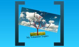 Volunteer Interest Example
