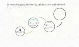 Is neuroimaging measuring information in the brain?