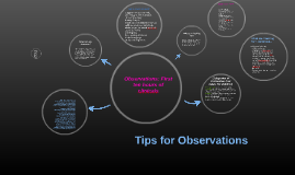 Tips for Observations