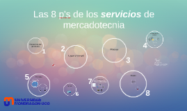 Copy of Las 8 p's de los servicios de mercadotecnia 26 enero 2015