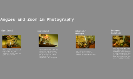 Angles and Zoom in Photography