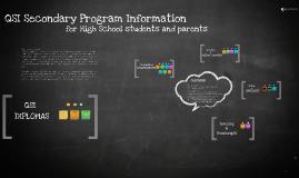 QSI Secondary Program