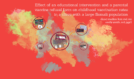 Effect of an educational intervention and a parental vaccine
