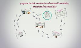 PROYECTO TURÍSTICO CULTURAL EN EL CANTÓN
