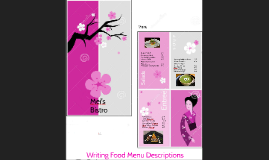 Writing Food Menu Descriptions