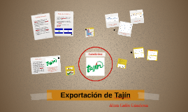 Exportación de Tajín