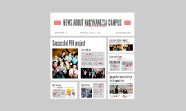 NEWS ABOUT NAGYKANIZSA CAMPUS