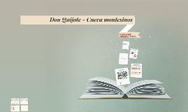 Don Quijote - Cueva montesinos
