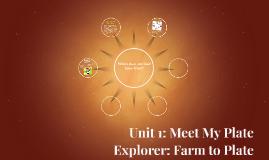 Unit 1: Meet My Plate  Explorer