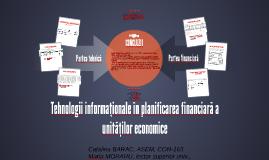 Tehnologii informaționale în planificarea financiară a unită