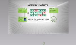 Customer scoring for loan provision