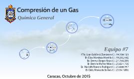 Compresion de un Gas