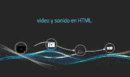 video y sonido en html