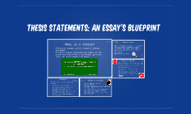 Thesis statements the blueprint of an essay by on prezi malvernweather Gallery