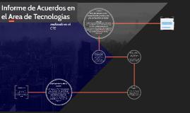informe de acuerdos en el area de tecnolgias