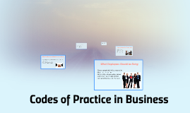 Codes of Practice in Business