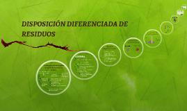 DISPOSICIÓN DIFERENCIADA DE RESIDUOS