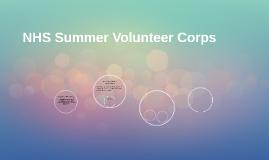 NHS Summer Volunteer Corps