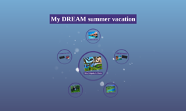 My DREAM summer vacation