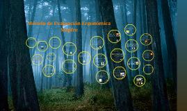 Copy of MÉTODO DE EVALUACIÓN ERGONÓMICA MAPFRE