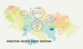 Christian beliefs about creation