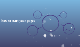 how to start your pages