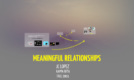 2014 MEANINGFUL RELATIONSHIPS