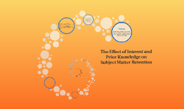 The Effect of Interest on Subject Matter Retention
